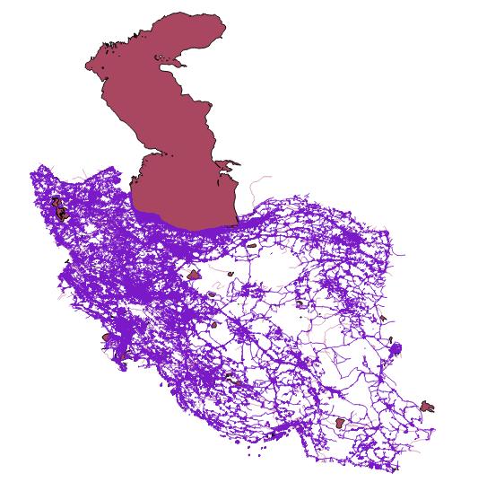 نقشه کل ایران