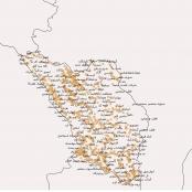 دانلود نقشه آبادی های استان چهارمحال و بختیاری