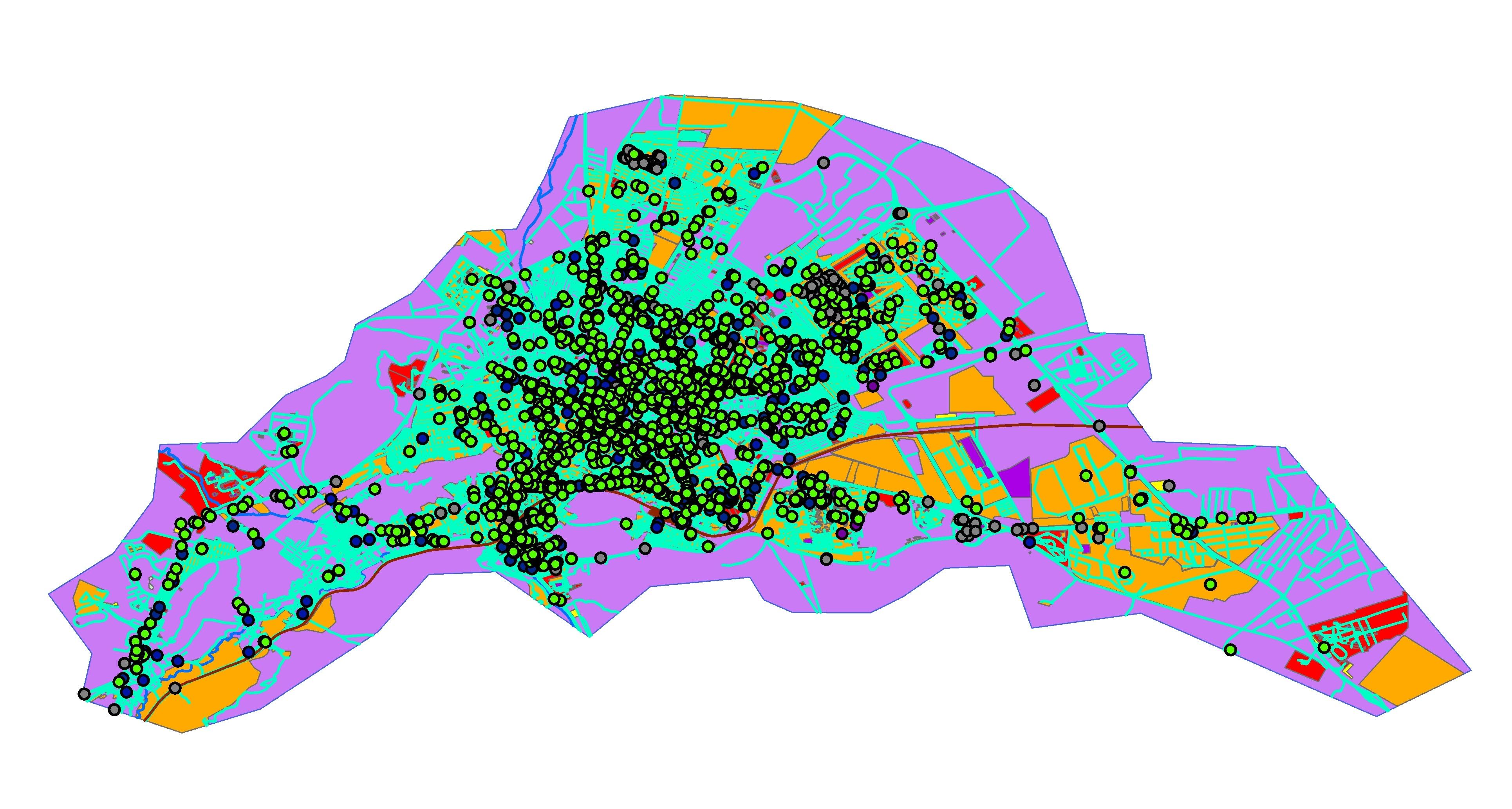 دانلود نقشه شهر اراک
