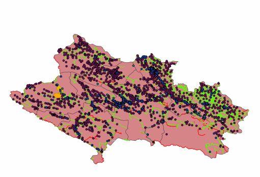 دانلود نقشه استان لرستان به تفکیک شهرستان
