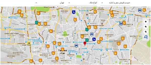مشاور املاک با نقشه و GIS